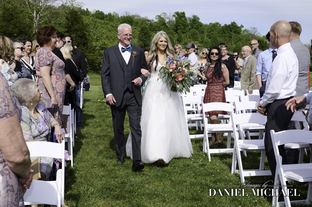 Wedding Ceremony Dad Giving away Bride