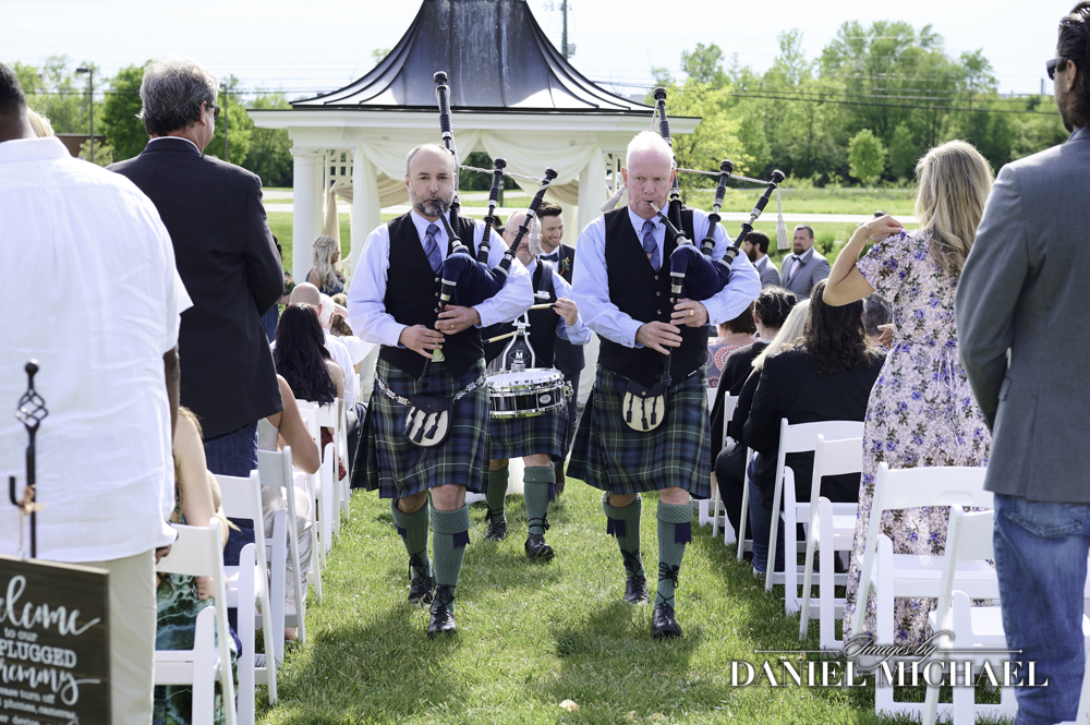 Bagpipes Wedding Ceremony Photography