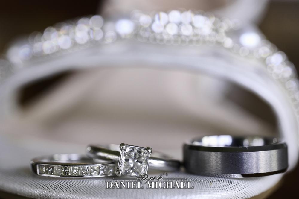 Wedding Rings in Bride's Shoe