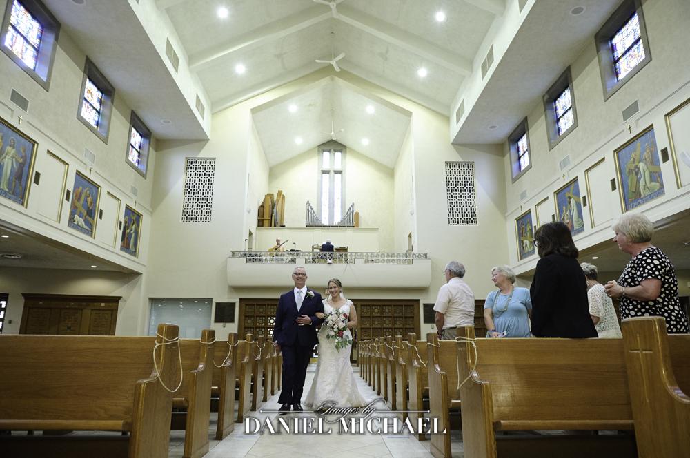 St Dominic Bride Walking Down Aisle