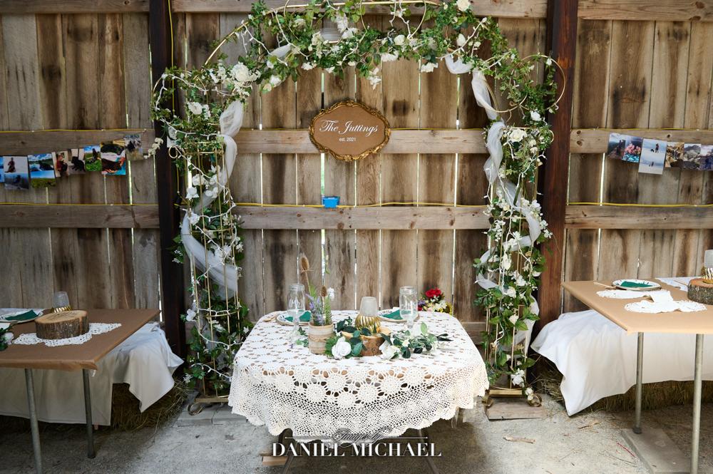 Barn Wedding Reception Sweetheart Table