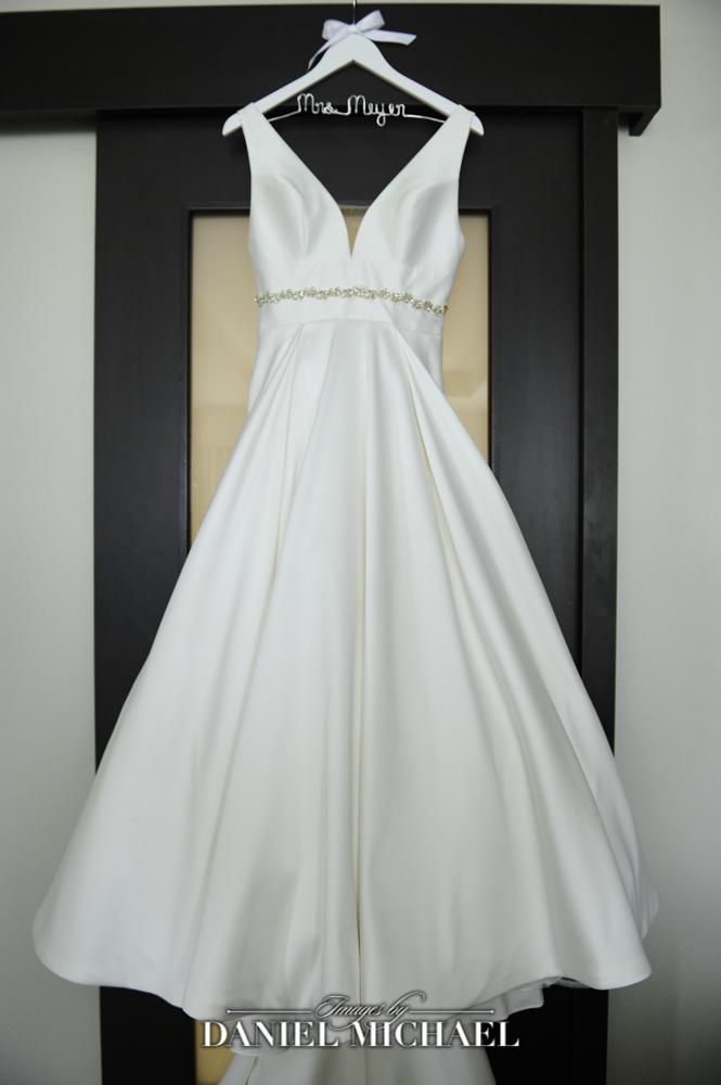 Wedding Dress and Custom Hanger