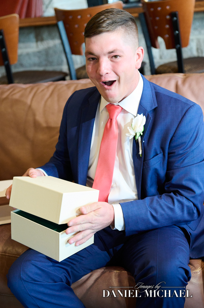 Groom Realizing it's a Rolex