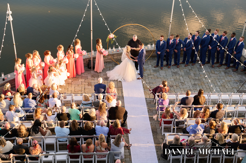 Stonelick Hills Wedding Ceremony from Crows Nest