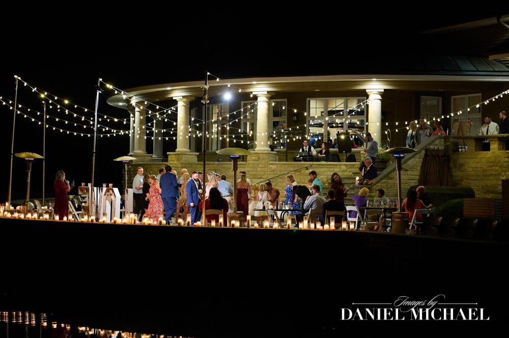Night Photo of Stonelick Hills Wedding Reception