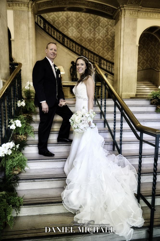 Cincinnati Club Wedding Portrait