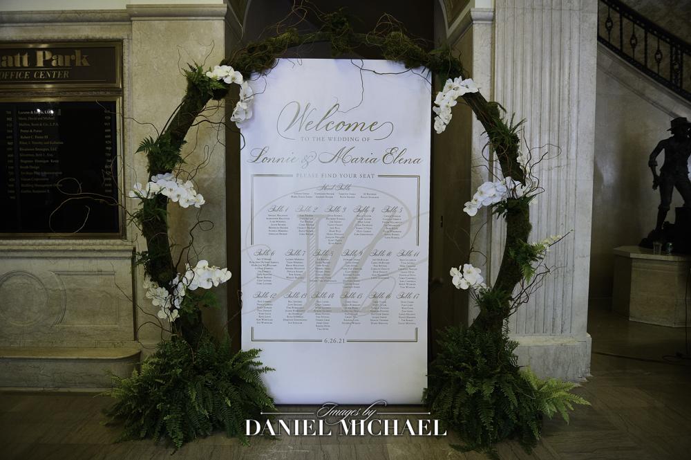 Custom Seating Chart for Wedding Reception