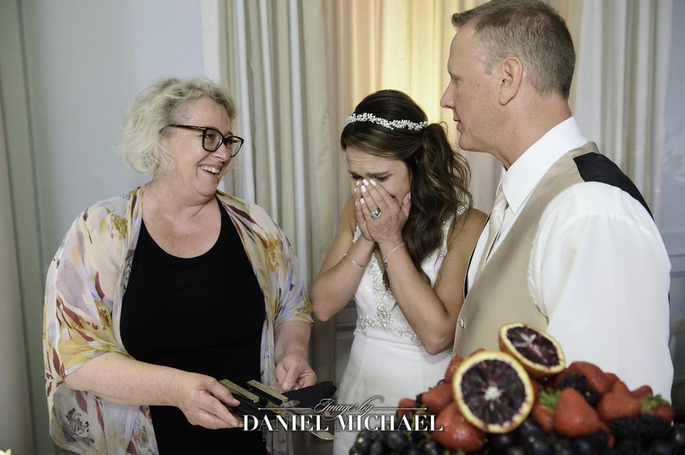 Emotional Bride Photo