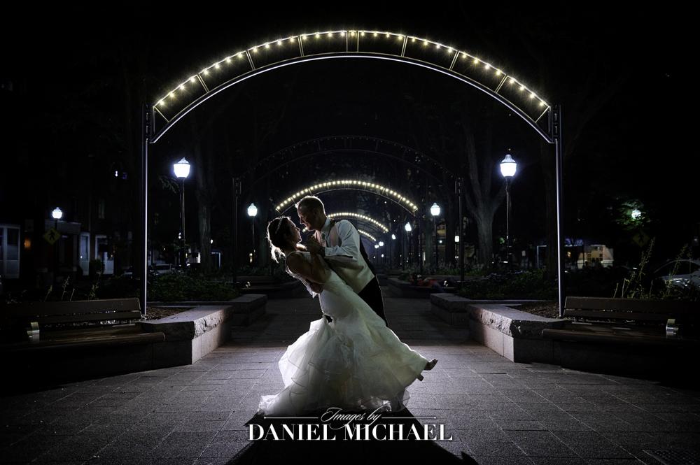 Piatt Park Wedding Photography at night