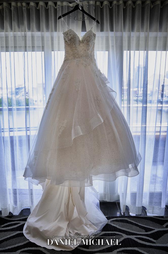 Wendy's Wedding Dress hanging up