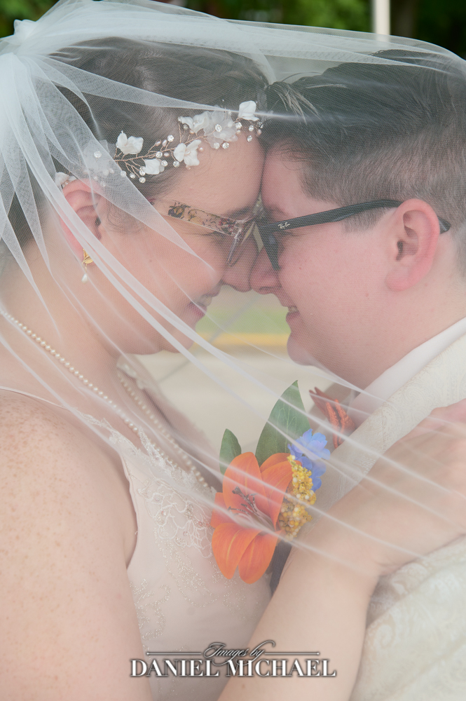 LGBTQ Wedding Photography under veil