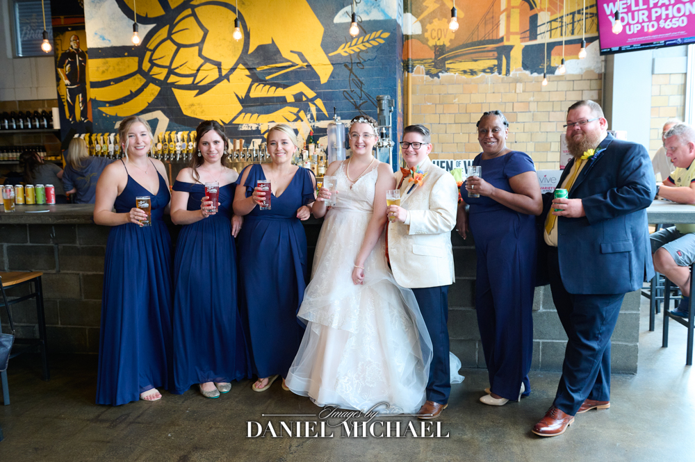 Braxton Brewery Wedding Party Photography