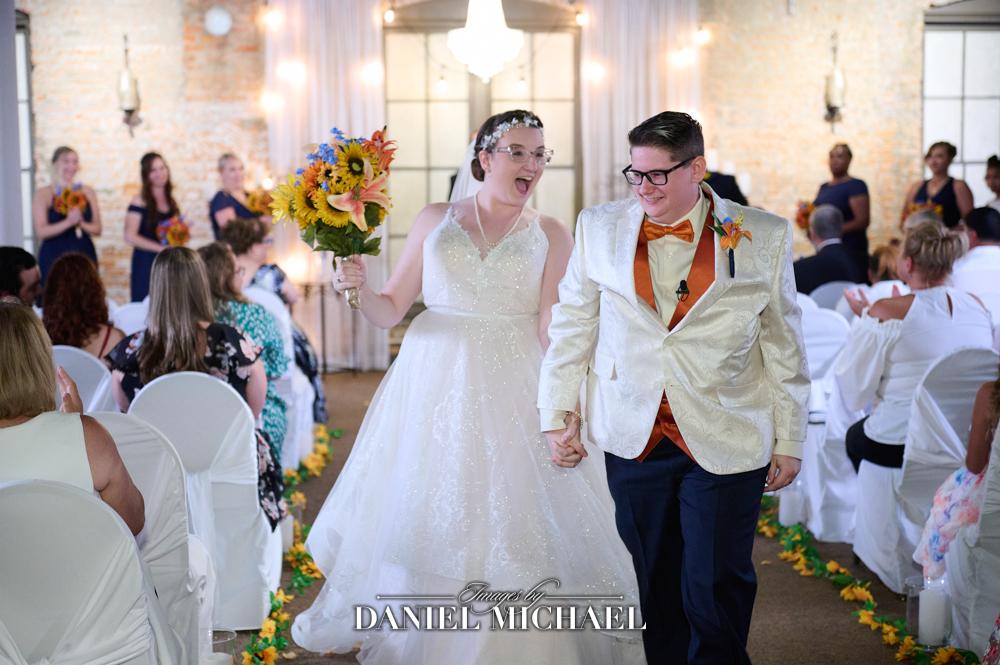 Bride Recessional Madison Loft Wedding
