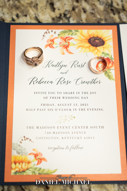 Posh Paper Wedding Invites with rings