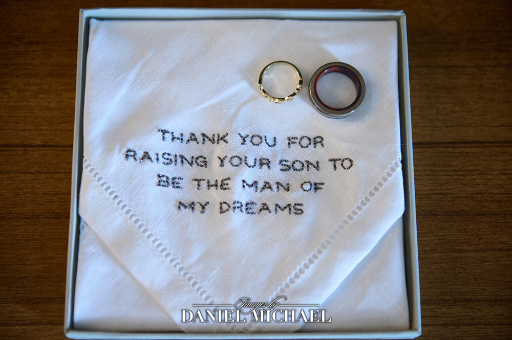 Wedding Bands and Embroidery for Mom of Groom