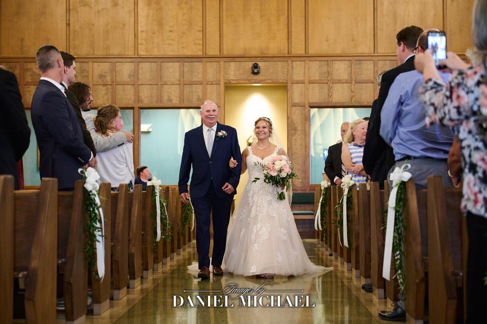 St Michaels Wedding Bride Walking Down Aisle