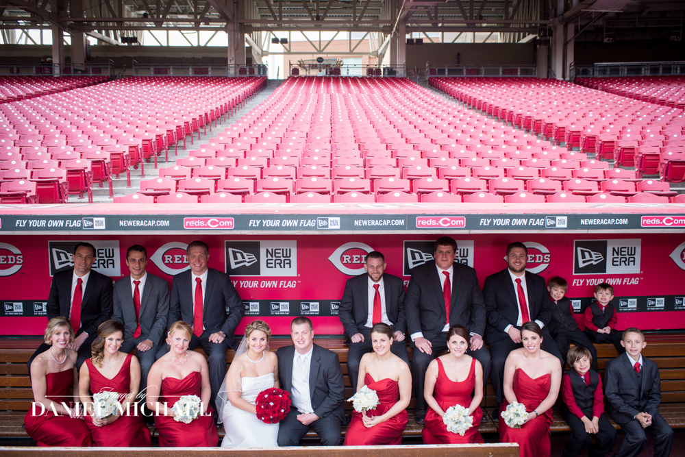 Great American Ballpark Wedding Photo