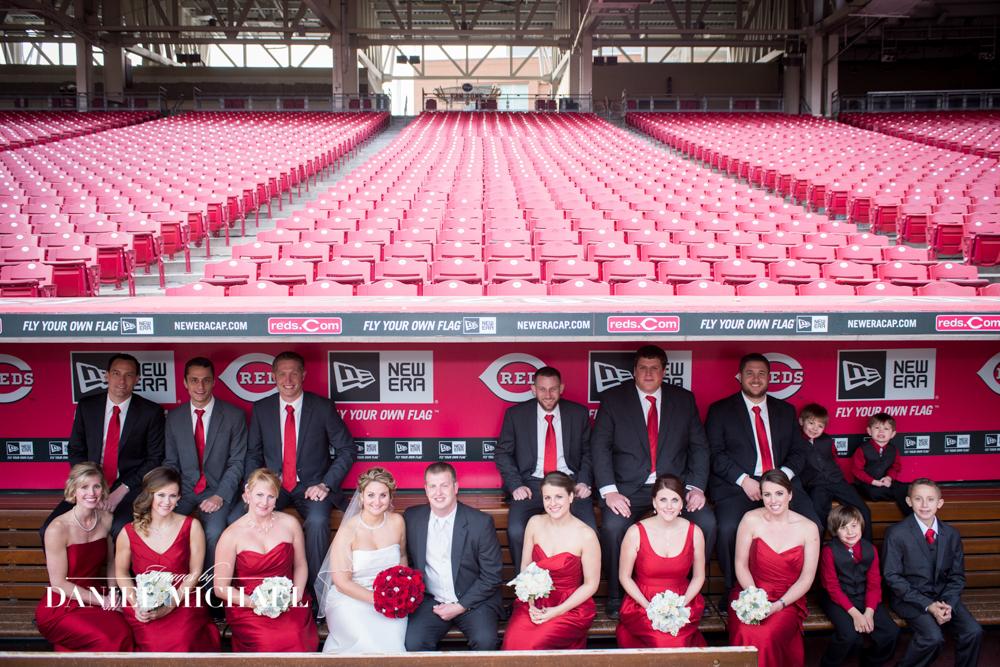 Great American Ballpark Wedding Photo