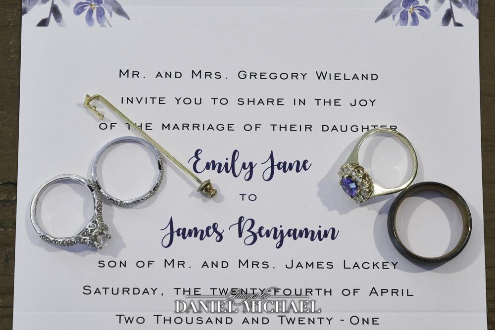 Wedding Rings on Program