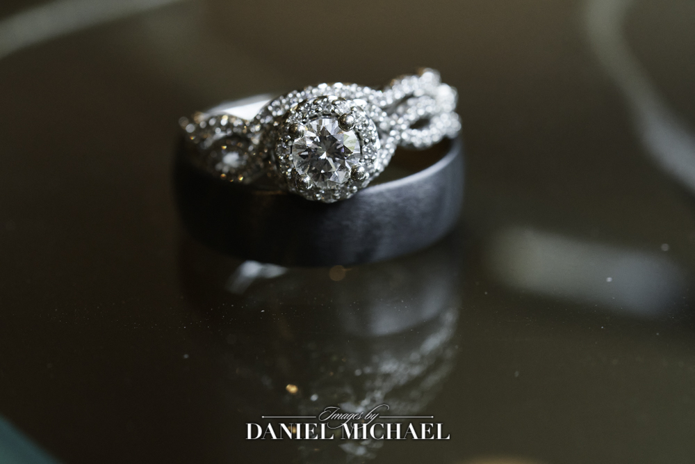 Wedding Rings with Reflection Photography