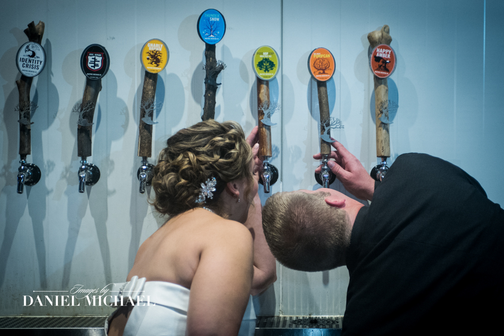 Wedding Photography with Beer Taps