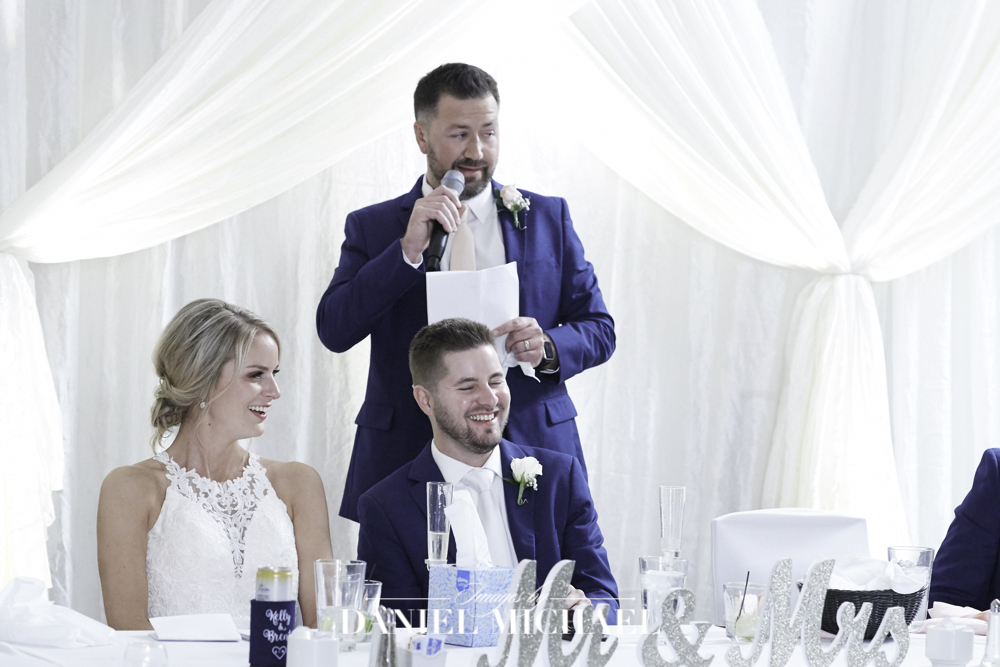 Wedding Reception Toast Photo