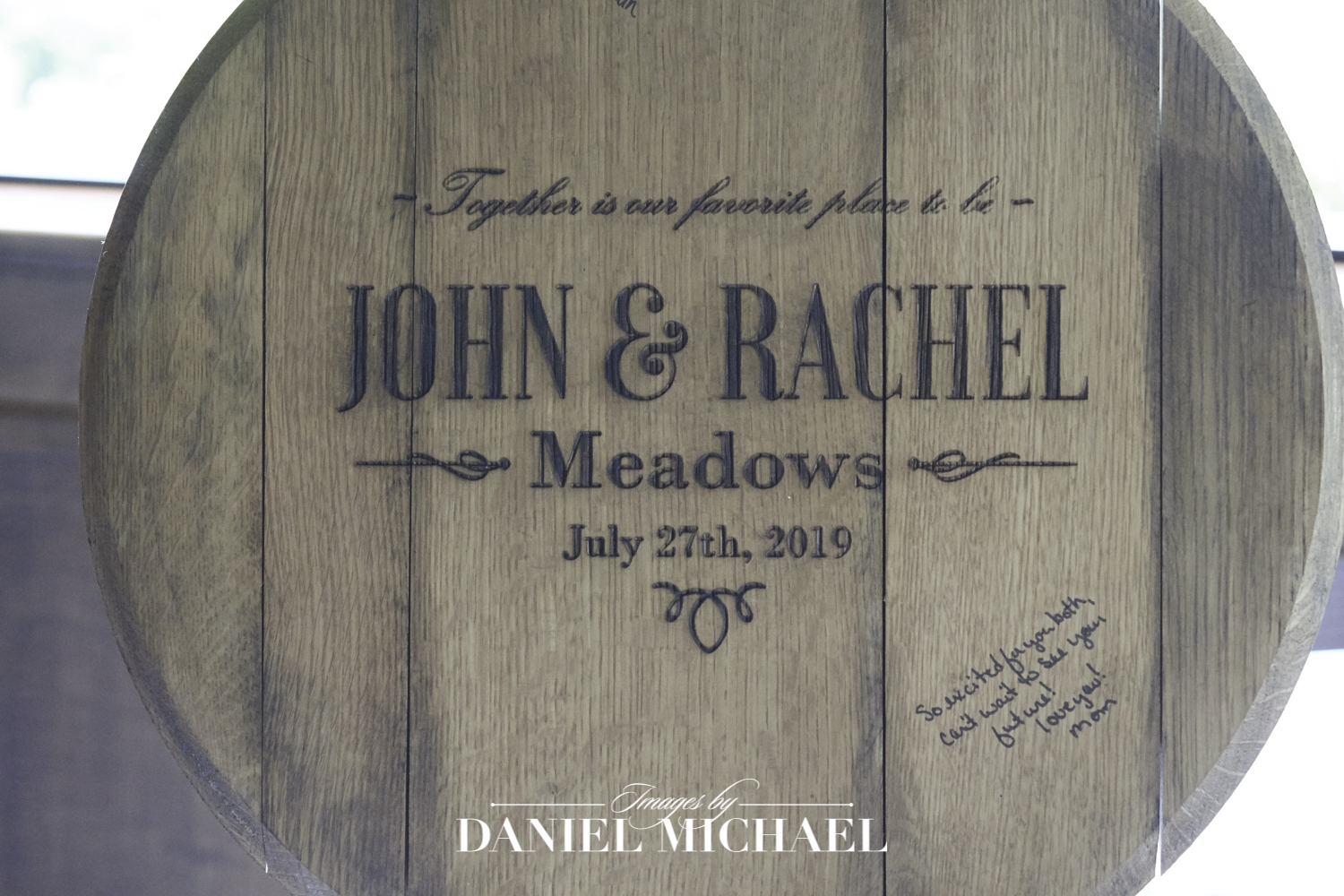 Bourbon Barrel Lid for Wedding