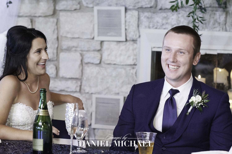 Wedding Toast Reaction Photo