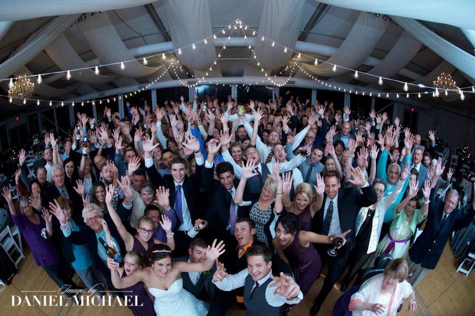 Wedding Group Photo at Pinecroft Mansion