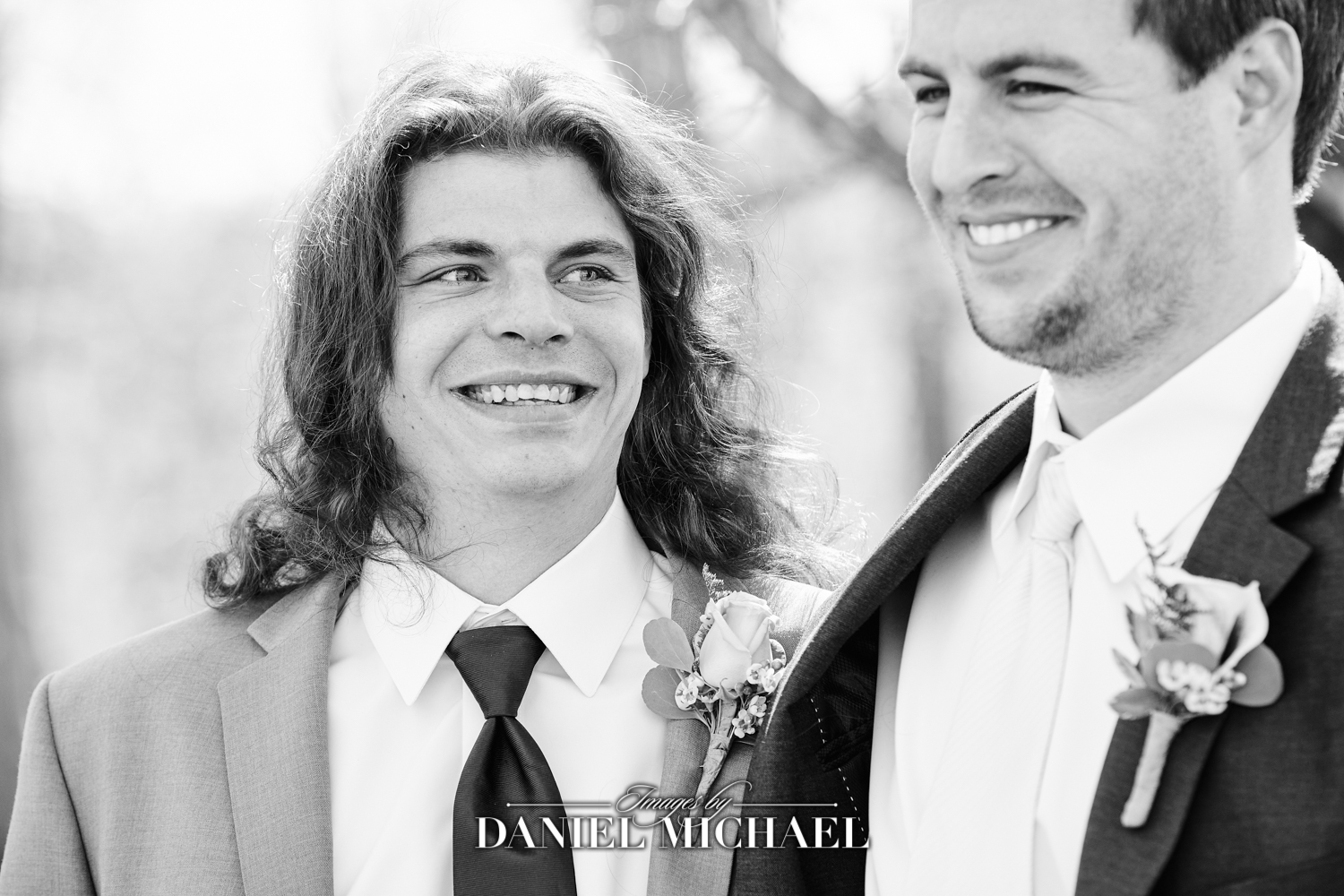 Groomsman Laughing Wedding Photo