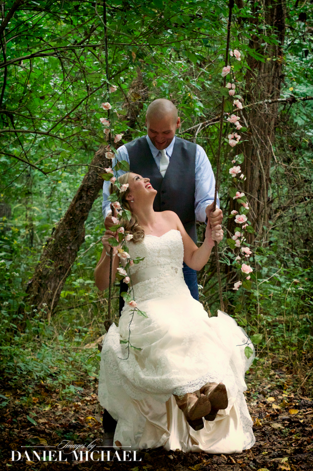Wedding Photography Couple on Swing