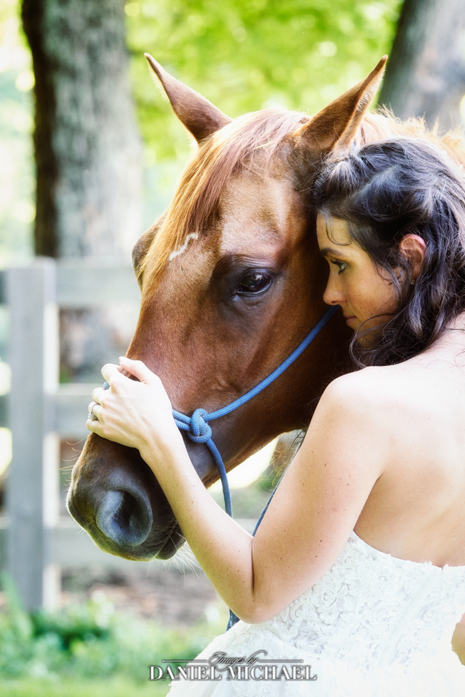Bride Wedding Photography with Horse