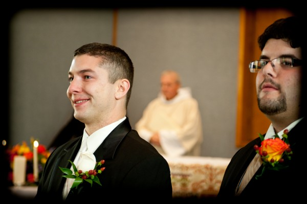Groom Crying at Wedding Ceremony