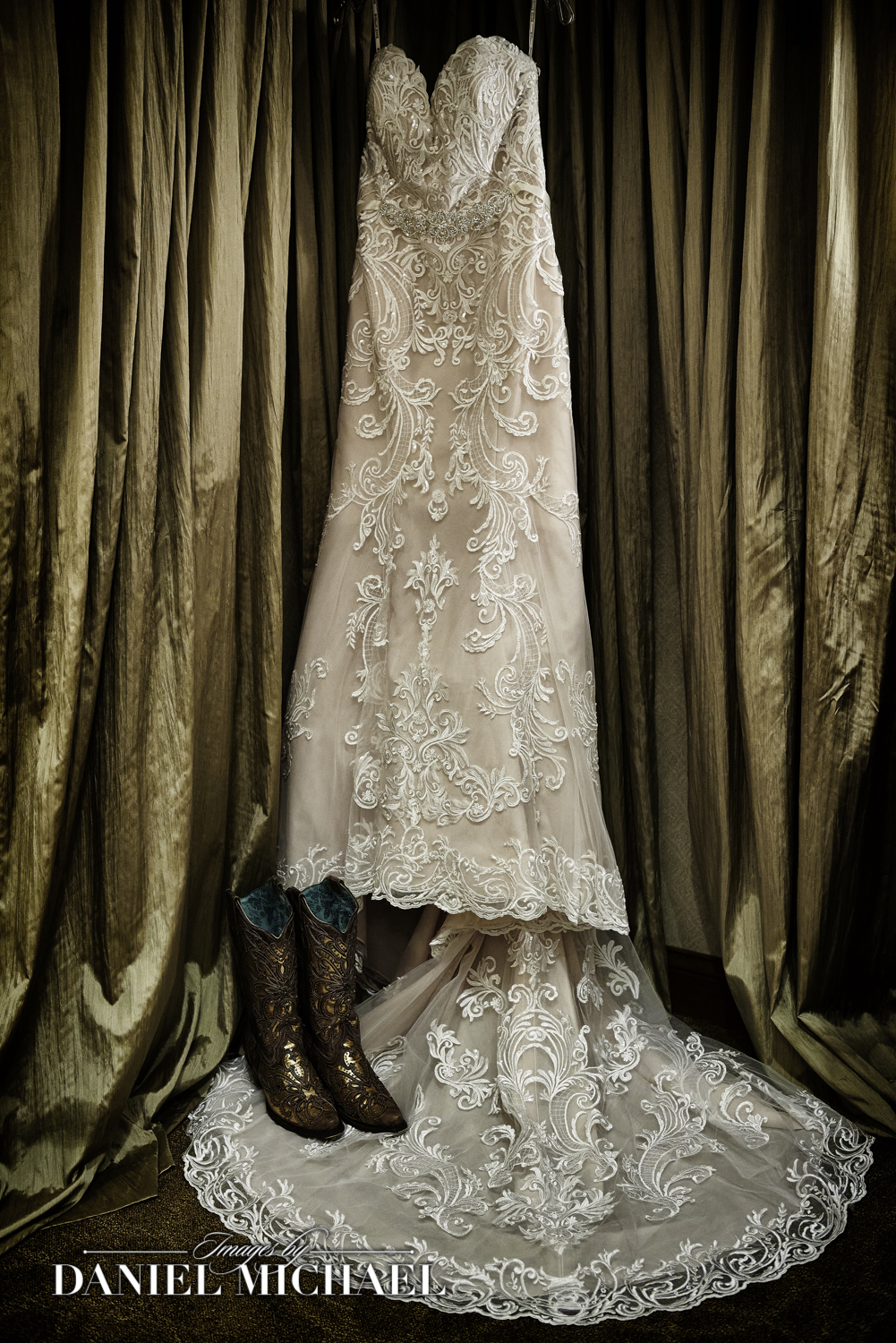 Wedding Dress Cowboy Boots