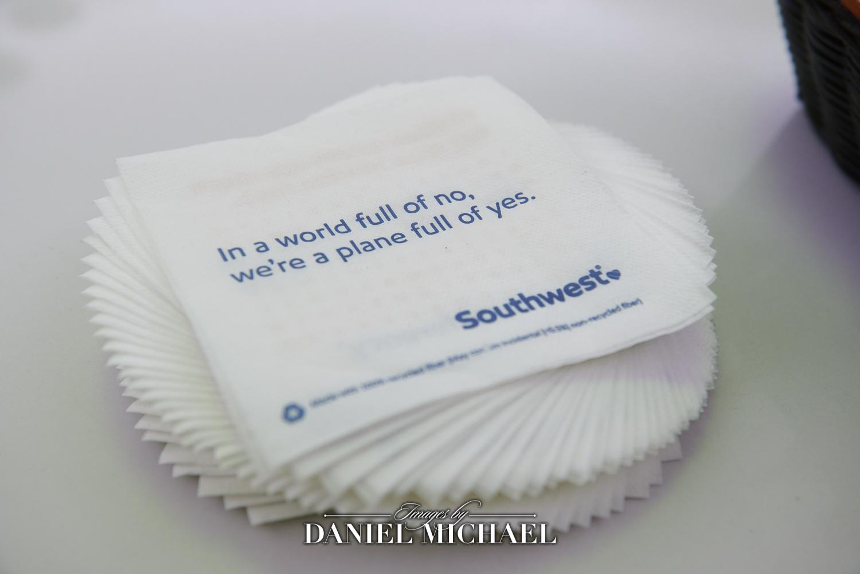 Airplane theme napkins