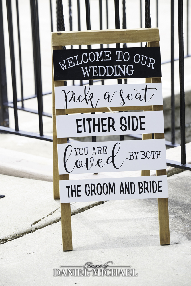 Wedding Sign Pick a Seat Not a Side