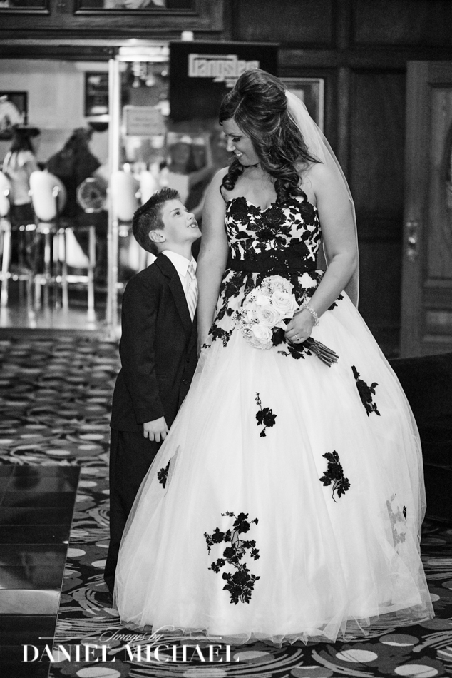 Bride and Son Walking down aisle