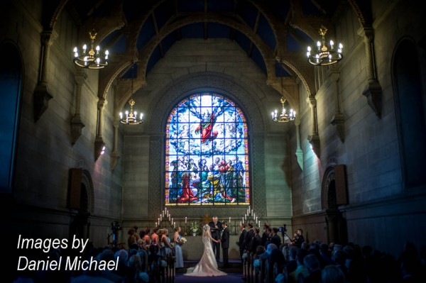 Norman Chapel Wedding Ceremony Photos