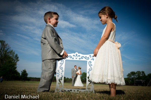 Ring bearer and Flower Girl with photo frame