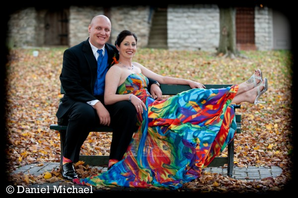 Tie Dyed Wedding Dress Photography
