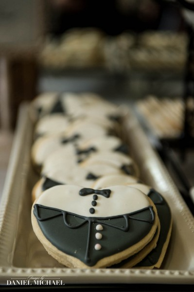 Wedding Cookies with Tuxedos Photos