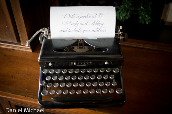 Wedding Detail Old fashioned typewriter for Notes