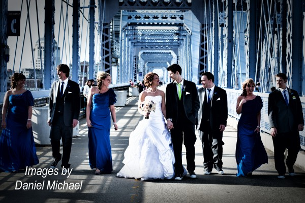 Wedding Photographers Purple People Bridge