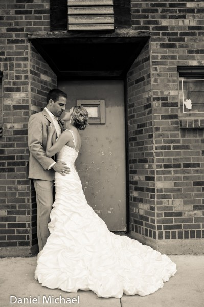 Wedding Photographers Over the Rhine Downtown
