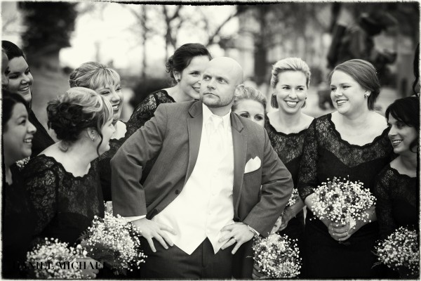 Wedding Photography Groom and Bridesmaids