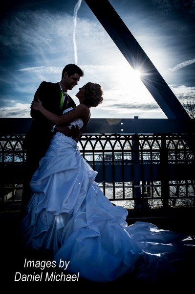 Wedding Photography Purple People Bridge