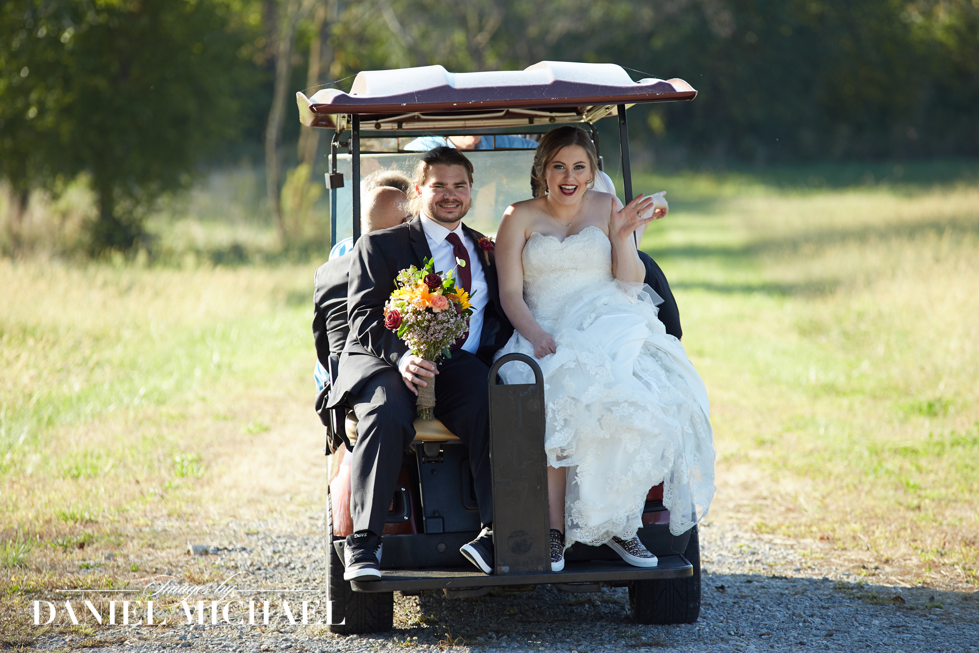 Golf Cart Wedding Photos