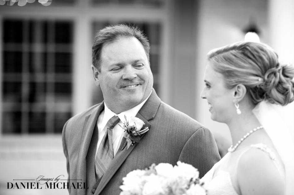 Wedding Ceremony Dad and Bride